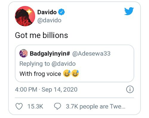 Davido tears trolls apart