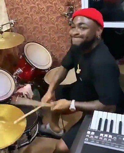 Davido drumming in Church