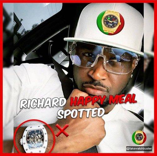 Peter Okoye Richard Mille