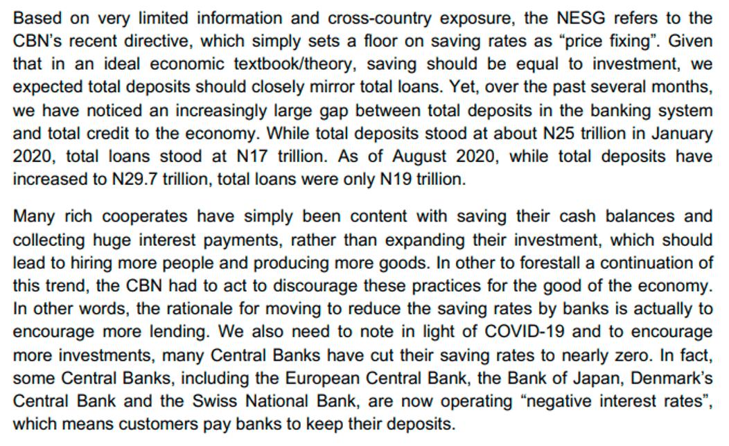 CBN vs NESG