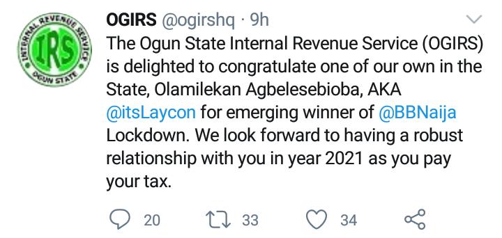 Ogun State Laycon Tax