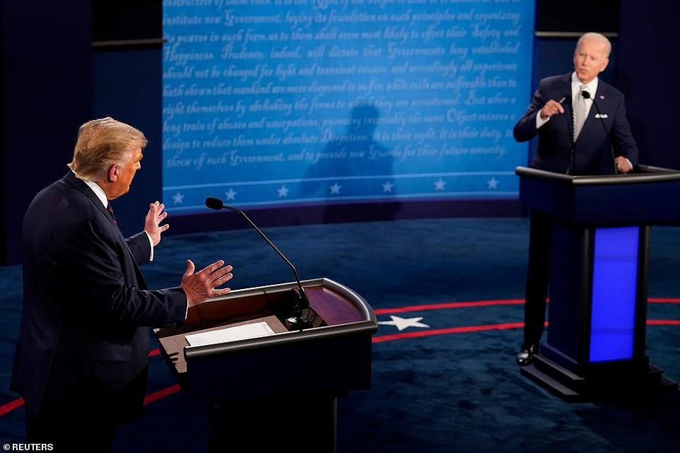 Joe Biden, Donald Trump, Us presidential debate