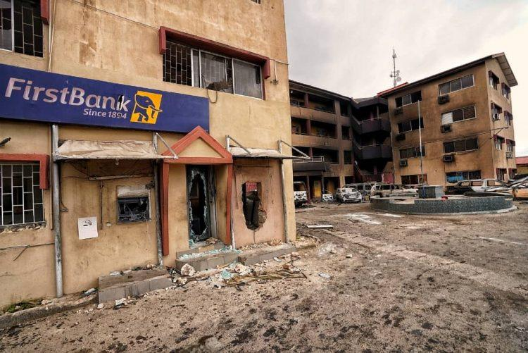 property destroyed in lagos by hoodlums during #endsars protest hijack
