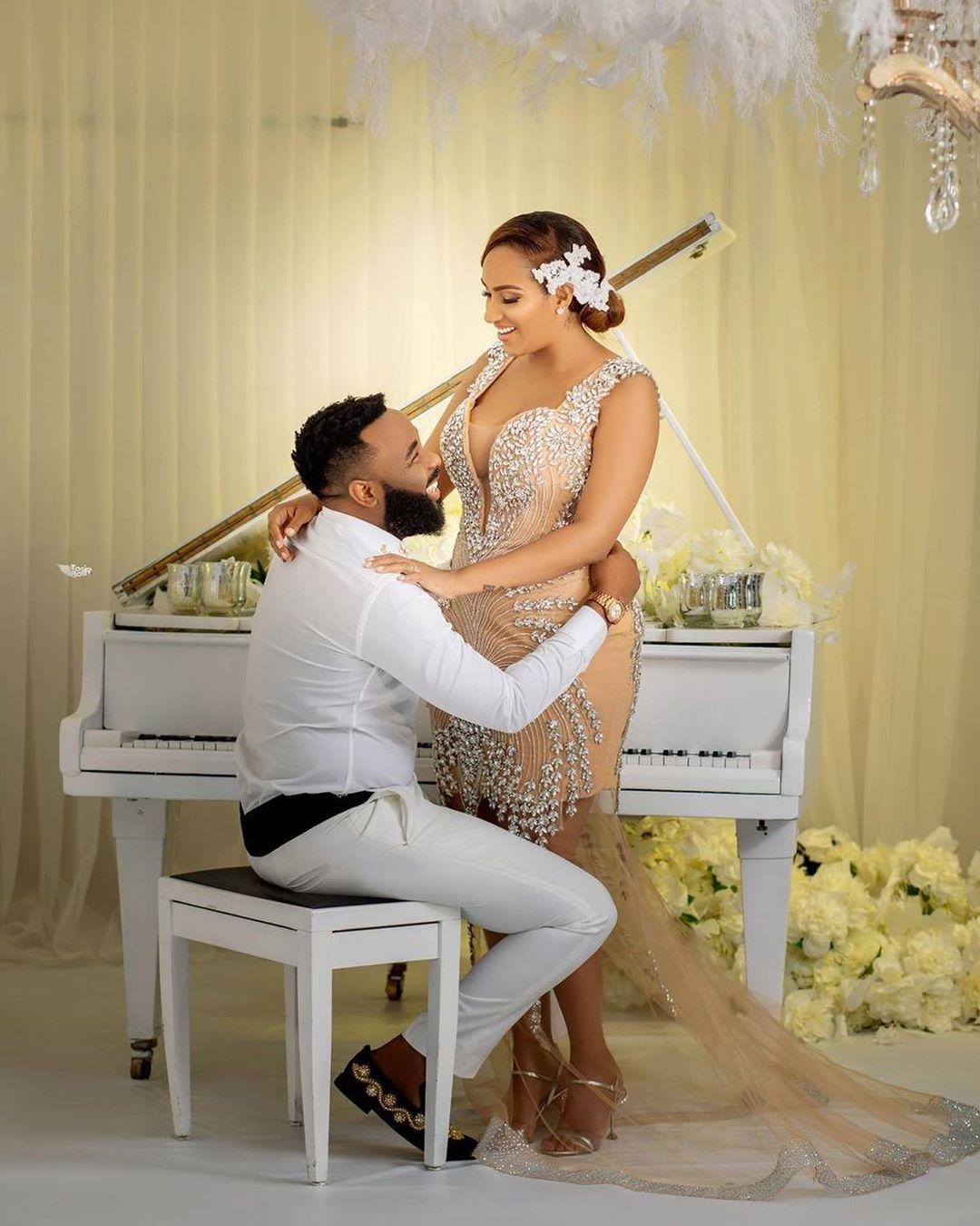 Juliet Ibrahim and VJ Adams wedding photoshoot
