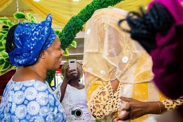 Mike Bamiloye's wife and daughter, Darasimi traditional wedding