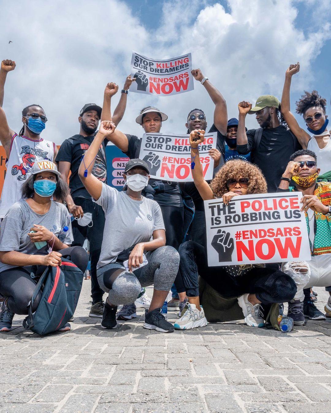 Omotola Jalade Joins #Endsars Protest