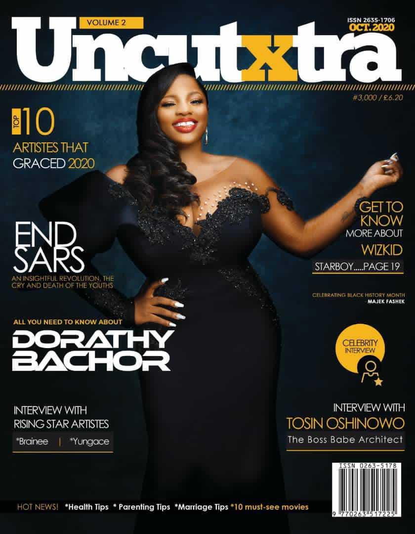 BBNaija's Dorathy Bachor makes the front page of Uncutxtra Magazine