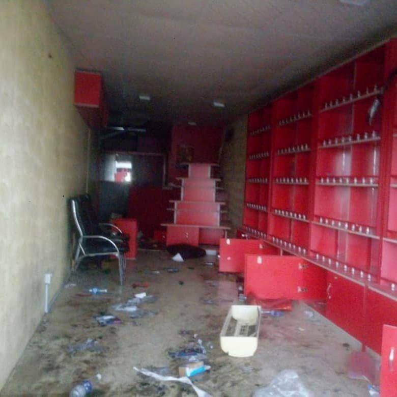 Uche Elendu's Shop Looted