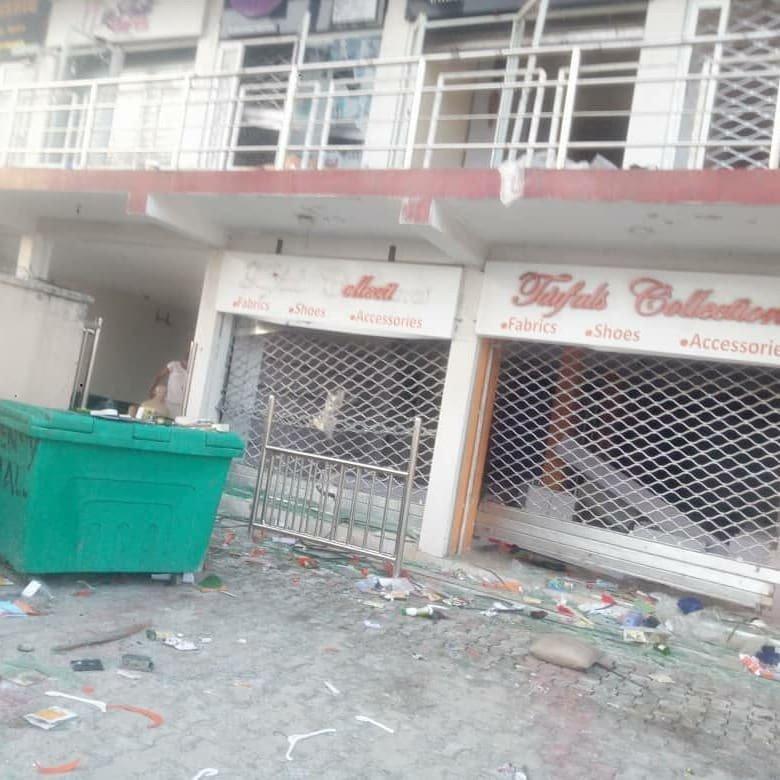 Uche Elendu shop looted