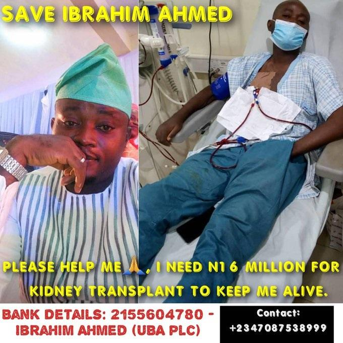 save ibrahim ahmed kidney transplant