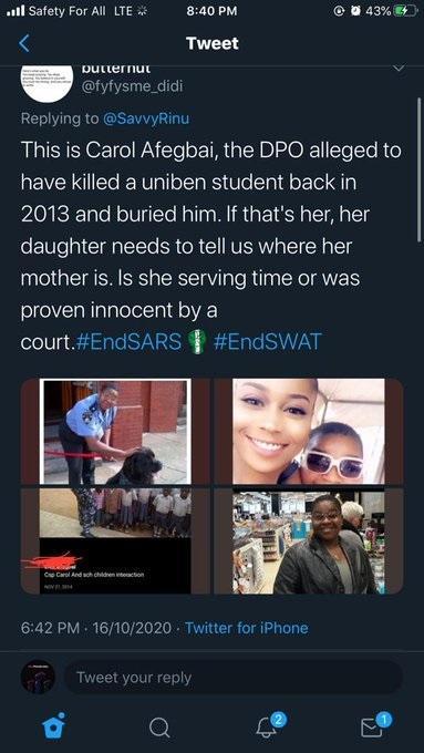 lilian afegbai's mother killed uniben student