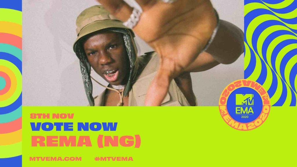 2020 MTV EMA:- Burna Boy, Rema