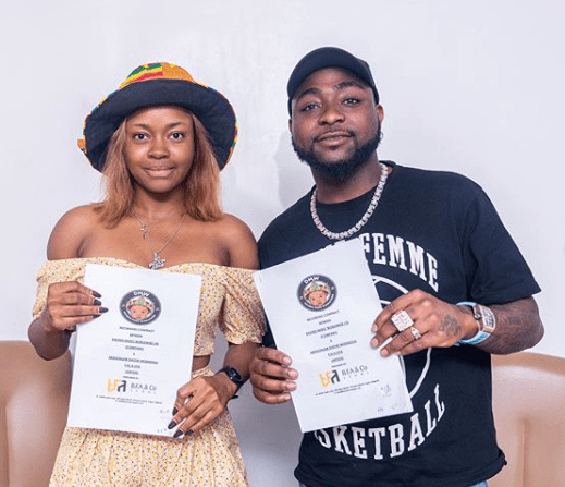 Davido signs female artiste, Liya to 30 billion gang