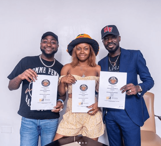 Davido signs female artiste, Liya to 30 BG