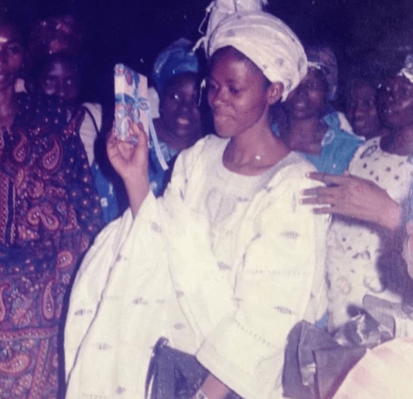 THROWBACK: OCTOBER 7TH, 1988, ENGAGEMENT DAY mike bamiloye and his wife