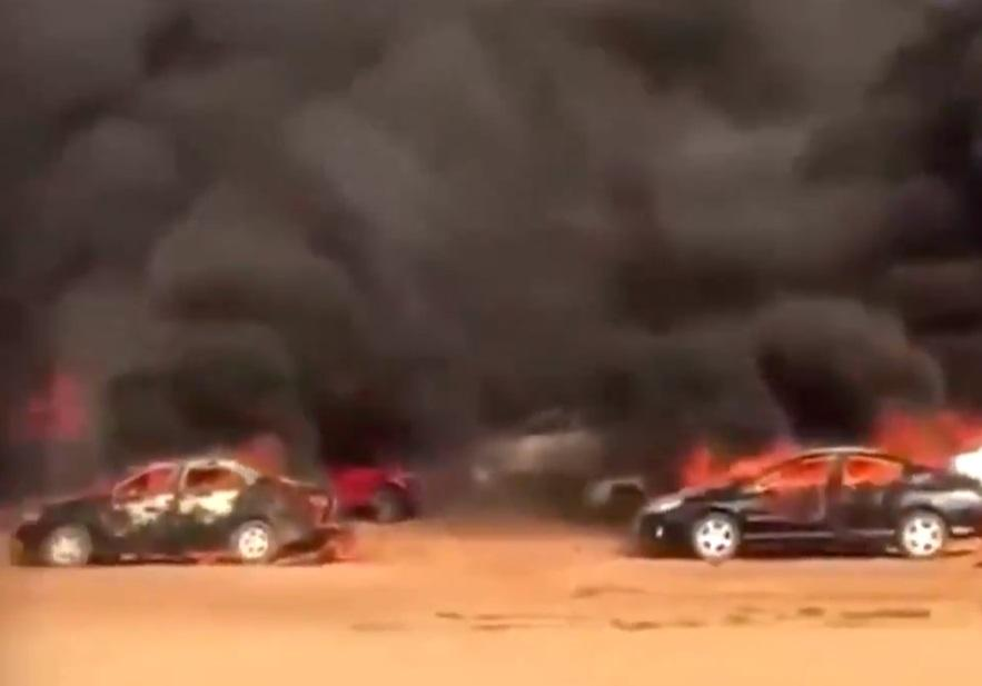 #EndSARS: Over 200 protesters cars burnt in Abuja (Video)