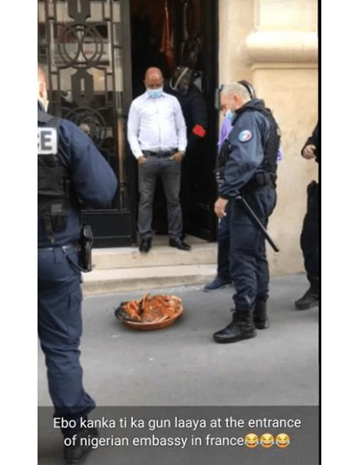 Sacrifice at Nigerian embassy France