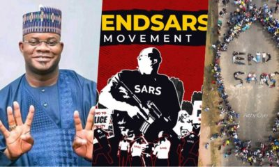 Nigerians Reacts As Kogi State Governor, Yahaya Bello Volunteers To Lead #EndSARs Protest