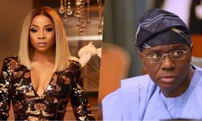 Toke Makinwa Tackles Gov. Sanwo-Olu Over Curfew Timing