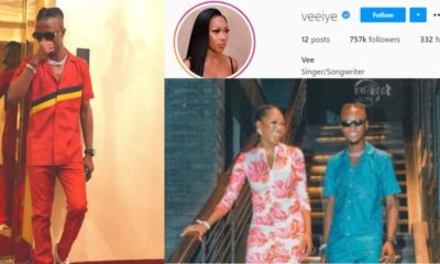 Laycon celebrates vee instagram verified