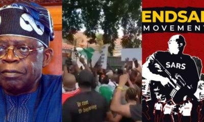 #LekkiMassacre: Protesters Storm Tinubu's Residence in Bourdillon (Video)