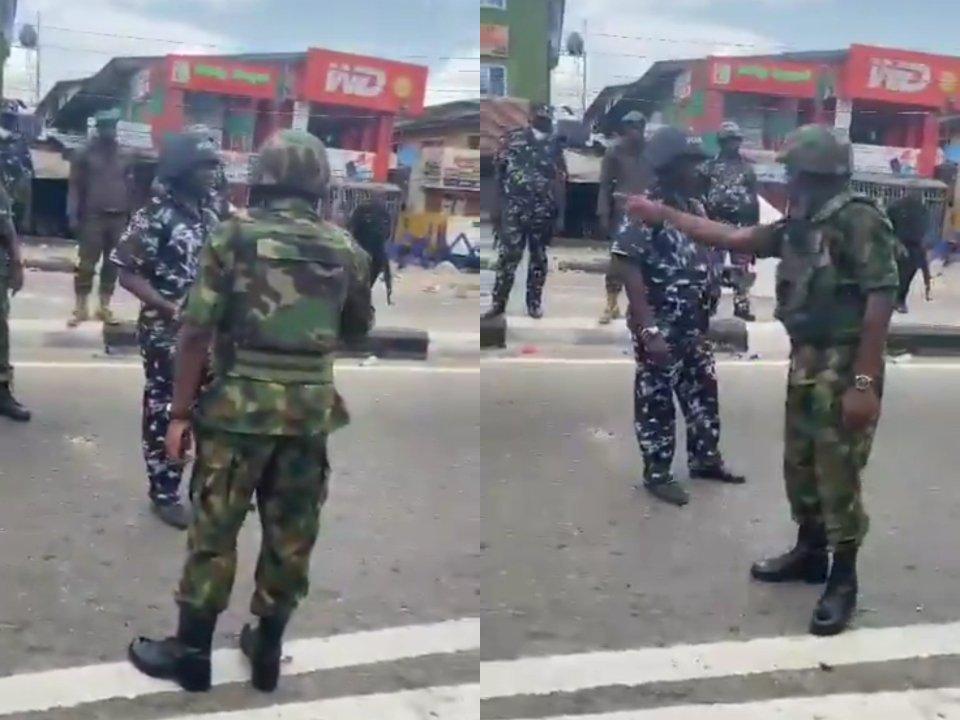 Air Force slammed Policemen