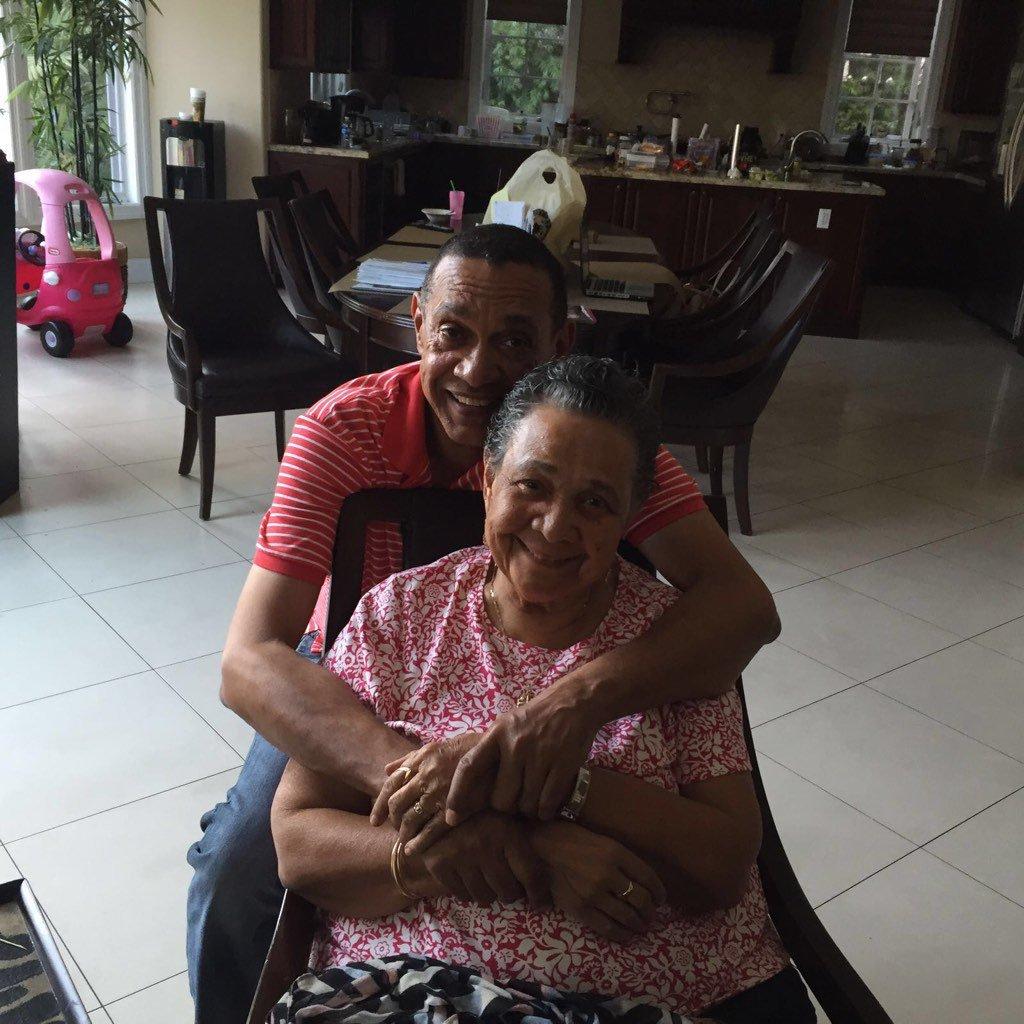Ben Bruce celebrates his mother