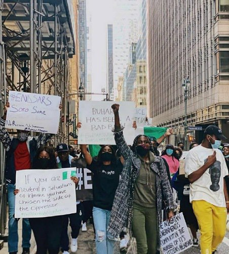 #EndSARS Protest In New York