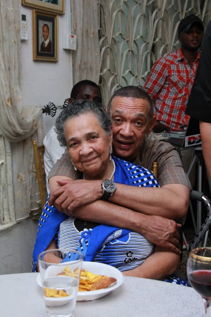 Ben Bruce celebrates his mother
