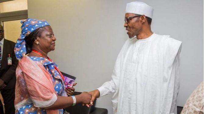 Lauretta Onochie and President Buhari