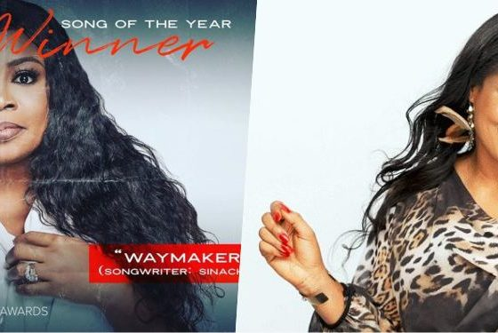 Dove Awards 2020: Sinach's 'Way Maker' Awarded Song Of The Year