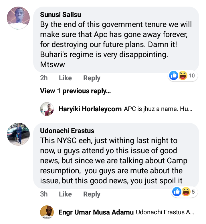 NYSC Update On Camp Reopening
