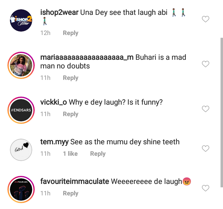 Buhari laughs at demands of #EndSARS