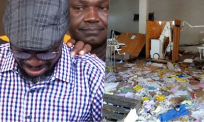 Kogi Commissioner Breaks Down In Tears As He Inspects Vandalized Medical Equipment