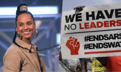 'Don't Give Up'- Alicia Keys Lends Voice To #EndSARS Protest