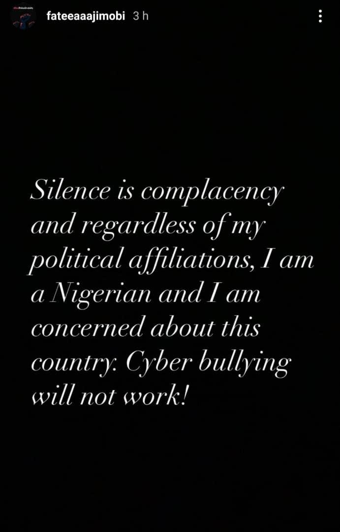 "Cyberbullying will not work - Ganduje's daughter writes hours after stating regret for supporting ""bunch of senseless leaders"""