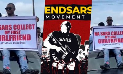 Man joins #EndSARs protest because SARS officer stole his first girlfriend