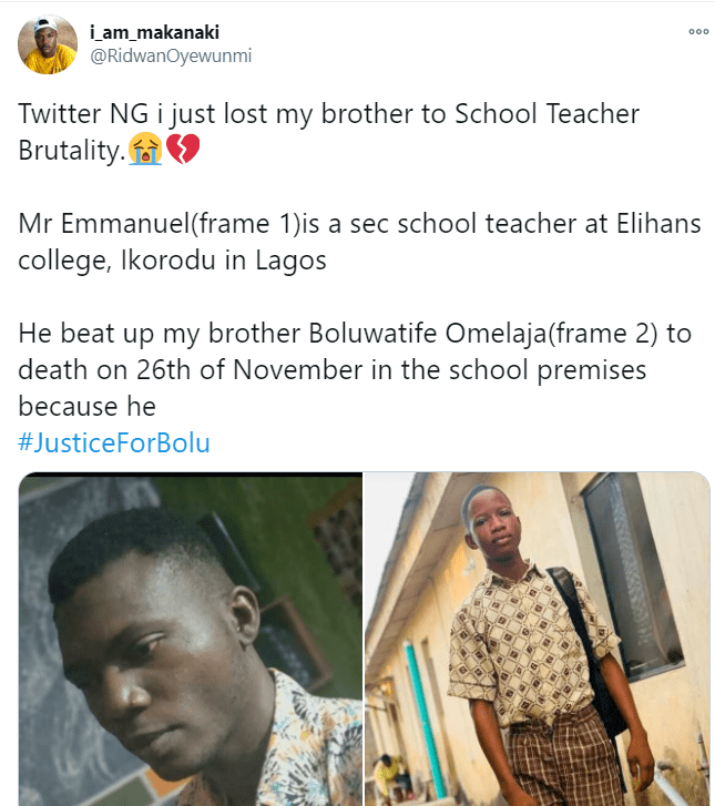 Teacher allegedly beats student to death for not answering a question
