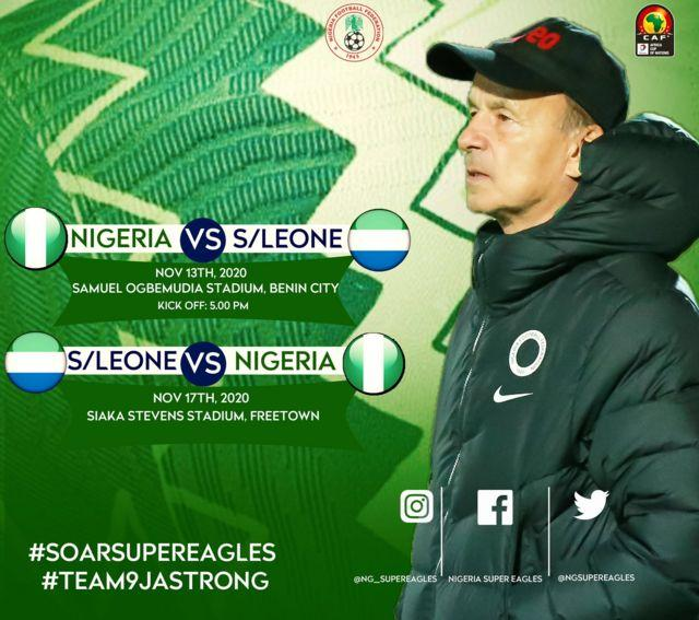 Nigeria vs Sierra Leone second leg afcon