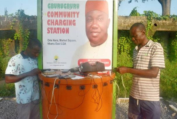 phone charging station enugu