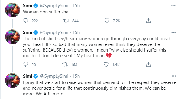 women that demand for respect - Simi