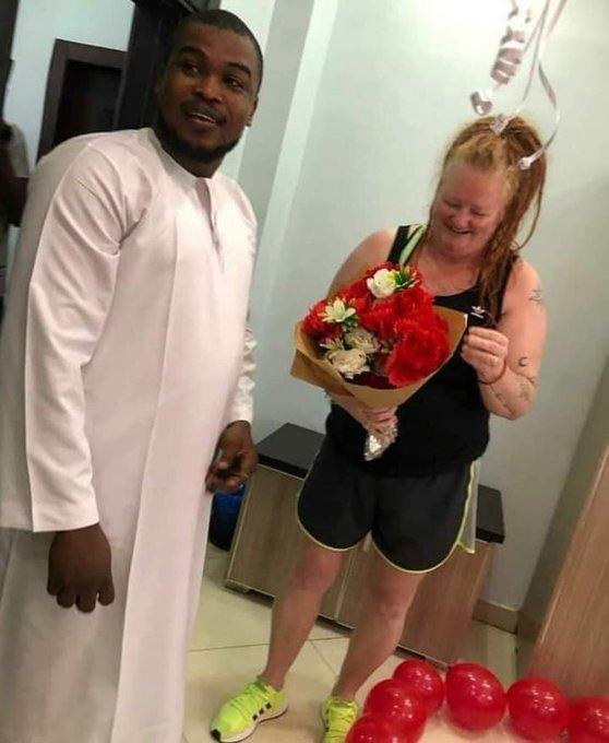 Nigerian man proposes to white woman