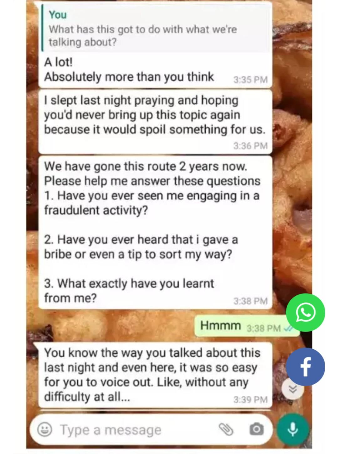Lady shares chat with fiance who called off their wedding after she demanded N60,000 to sort 3 lecturers