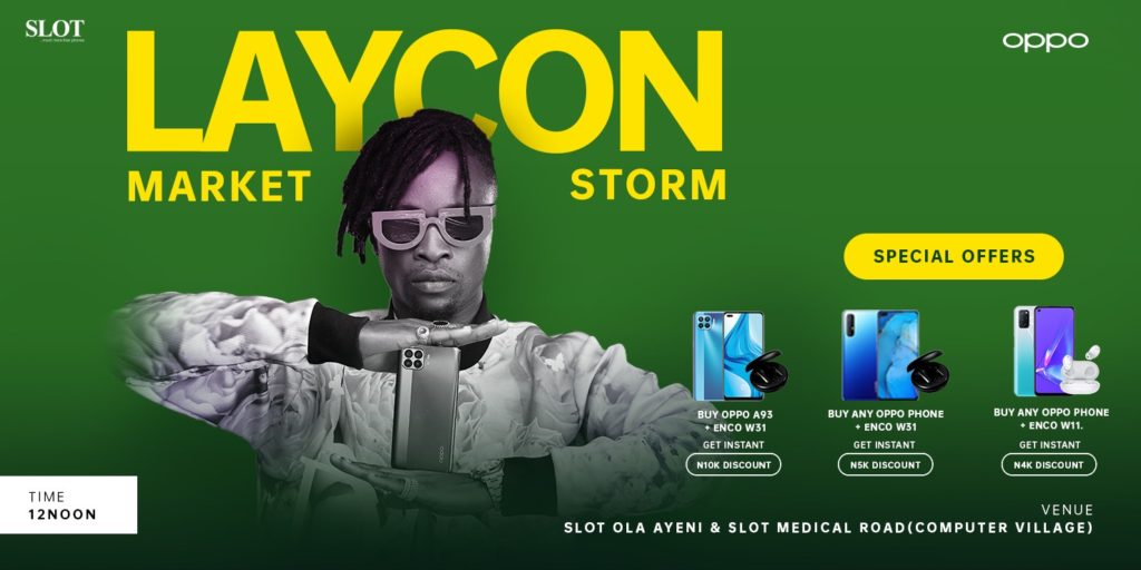 Oppo and Laycon market storm
