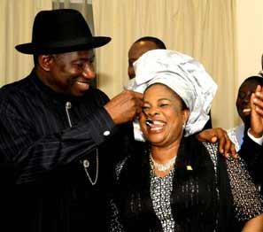Patience Jonathan celebrates Goodluck
