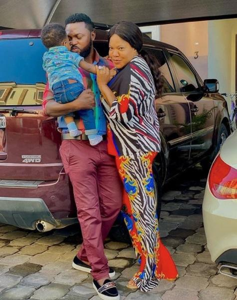 toyin abraham, husband and child