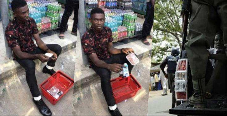 FRSC officer nabbed after eating 'raw meat and yoghurt' without paying