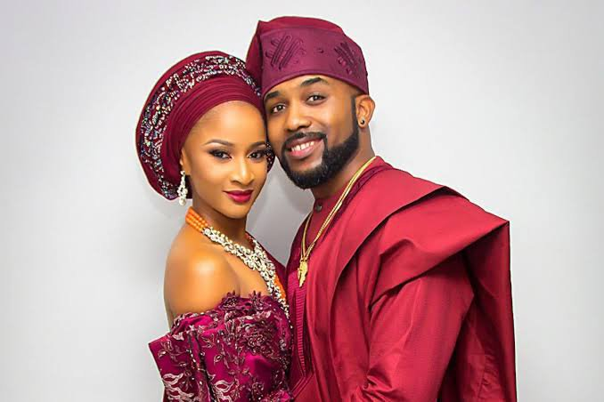 Banky and Adesua tease each other