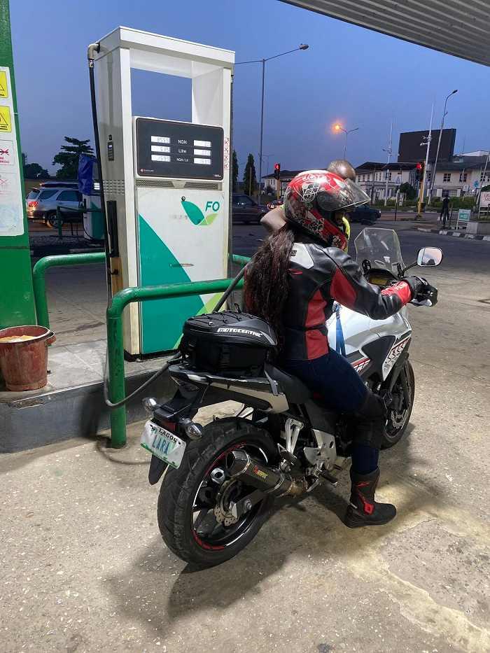 nigerian biker, omolara annie