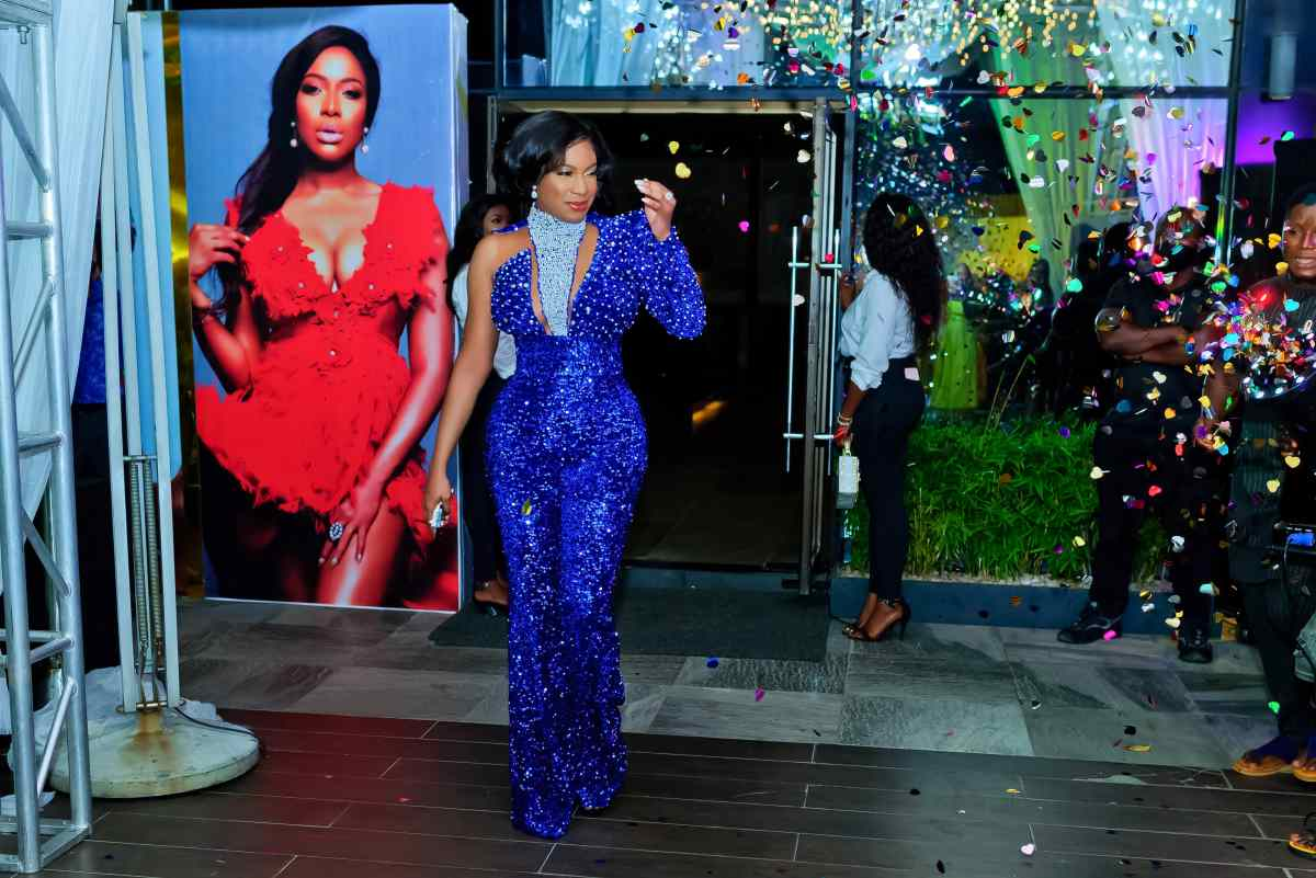 at  Chika Ike's 35th Birthday Party